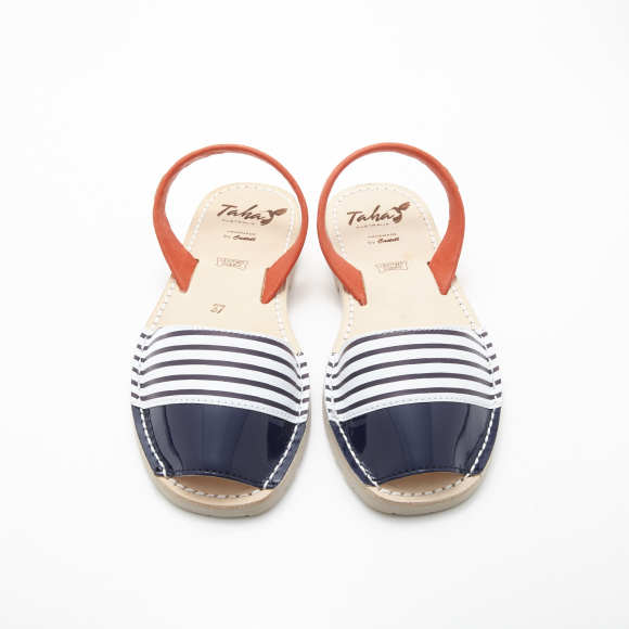 85ab9139d219 Red White and Blue Nautical Stripe Sandals