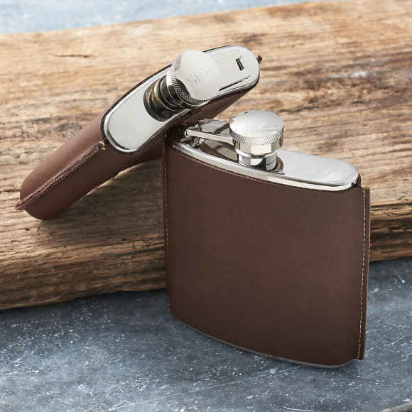 d44da59ae6f9 Personalised Hand Stitched Leather Hip Flask