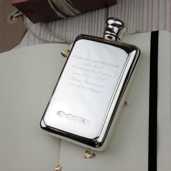 74eeaf249bc4 Personalised Sterling Silver Hip Flask
