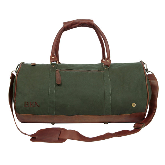 The Gym Duffle in Forest Green Canvas 669a3422fb3b7