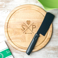 Chopping boards personalised chopping boards wooden and marble personalised follow your heart couples round board urtaz Image collections