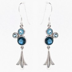 Sterling silver tulip bubble earrings