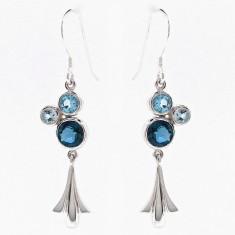Sterling silver tulip bubble earrings