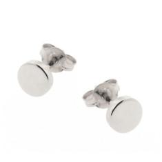 Sterling silver eclipse earrings