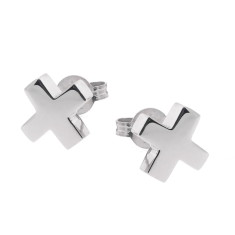 Sterling silver baby kiss stud earrings