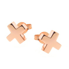 Gold baby kiss stud earrings