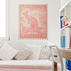 Kangaroo Australian postage stamp wall sticker