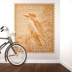 Kookaburra Australian postage stamp wall sticker