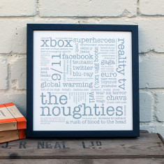 The Noughties typographic print