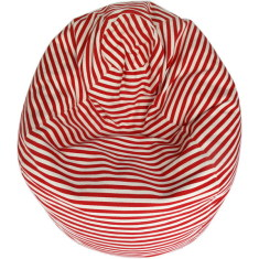 Glammclassic beanbag cover in red & white stripe