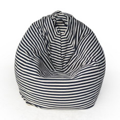 Glammclassic beanbag cover in navy & white stripe