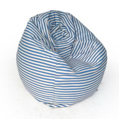 Glammclassic beanbag cover in sky blue & white stripe