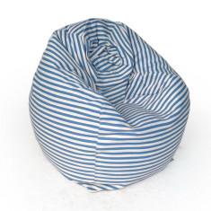 Glammclassic beanbag cover in sky blue & white stripe