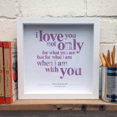 Personalised I love you typographic print