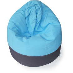 GlammCocoon two-toned bean bag cover in charcoal and aqua