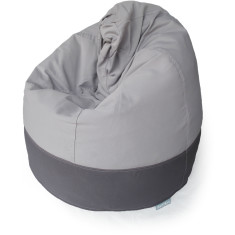 GlammCocoon two-toned bean bag cover in charcoal and pale grey