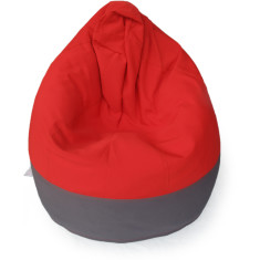 GlammCocoon two-toned bean bag cover in charcoal and red