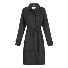 Women's packable raincoat in black