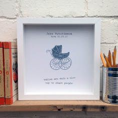 Personalised new baby print