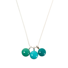 Triplette glass necklace (various colours available)