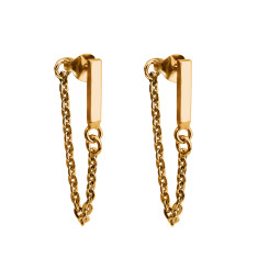 Bar chain earrings (Various Colours)