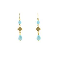 Green sea clover earrings
