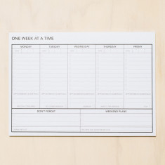 One week at a time planner notepad