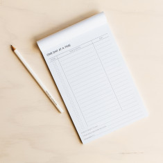 One day at a time planner notepad