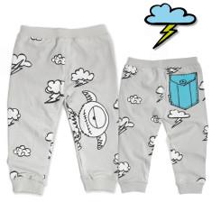 Monster blue pocket pants