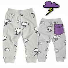 Purple pocket pants