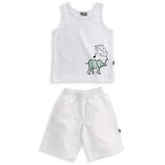 Elephant/bird singlet pyjamas