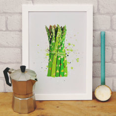 Asparagus kitchen print