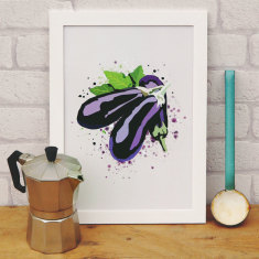 Eggplant kitchen print