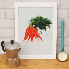 Carrot kitchen print