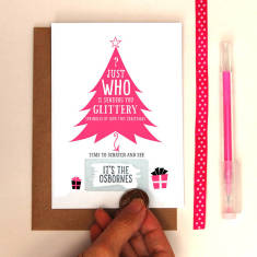 Hidden message Christmas tree scratch cards (pack of 10)