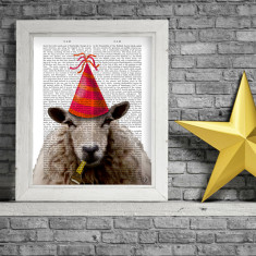 Party sheep book print