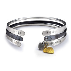 Personalised charm bangle