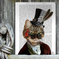 Phileas feline steampunk cat & top hat book print