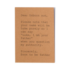 Dear unborn son A6 notebook