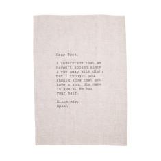 Dear fork 100% linen tea towel