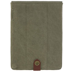 iPad trench sleeve in olive green