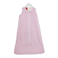 Baby sleeping bag 0.5 tog in pink multi stripe