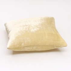 Silk velvet cushion cover in pearl