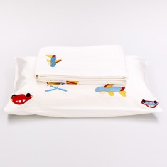 Transport embroidered duvet set