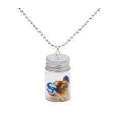 Lollipop lolly jar necklace