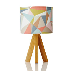 Tipi table lamp in casso pastel