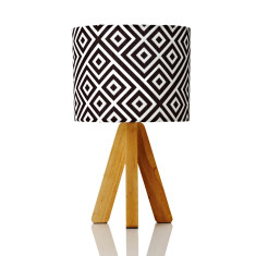 Tipi table lamp in Quinton coal