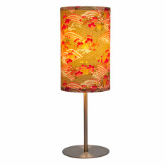Red & beige ume handmade table lamp