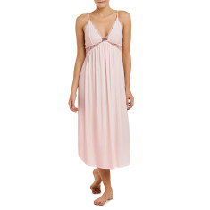 Long modal butterfly nightdress in ice pink