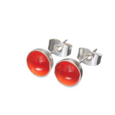 Coloured round stud earrings (various colours)